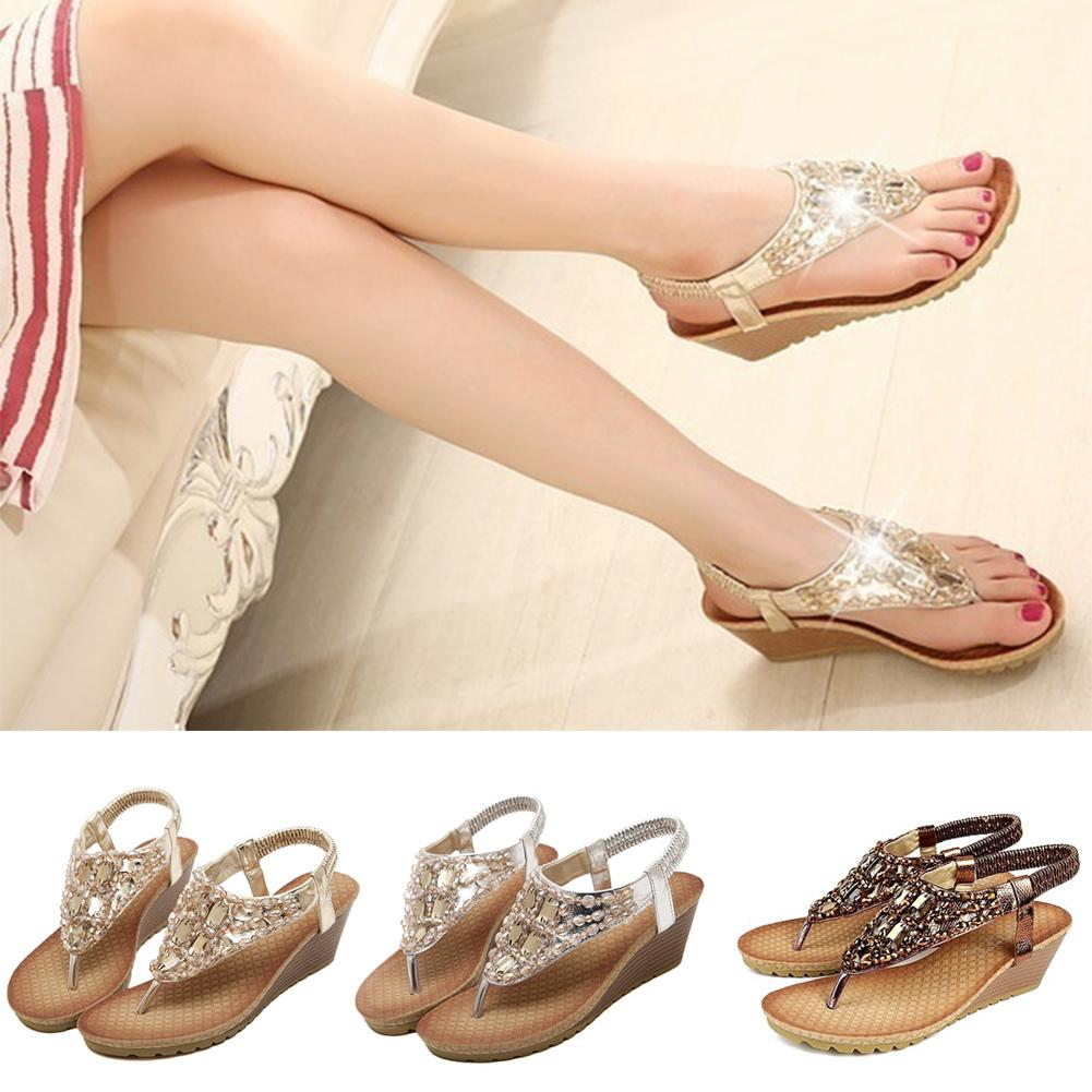 a3b703a6e7533 New Summer Shoes Women Fashion Flat Women Sandals Leisure Bohemia ...