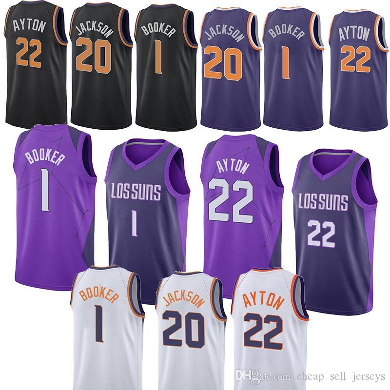 e68dd60fa031 2019 20 Jackson Jersey 1 Booker 22 Ayton Basketball Jerseys Phoenix City  Suns Men 2018 2019 New From Cheap sell jerseys