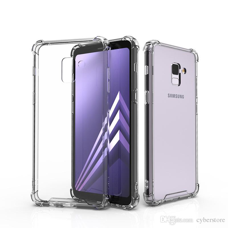 Crystal Transparent Clear TPU Bumper Acrylic Case Shockproof Phone Cover for For Samsung Galaxy S9 Note 9 A6 A7 A8 J4 J6 2018