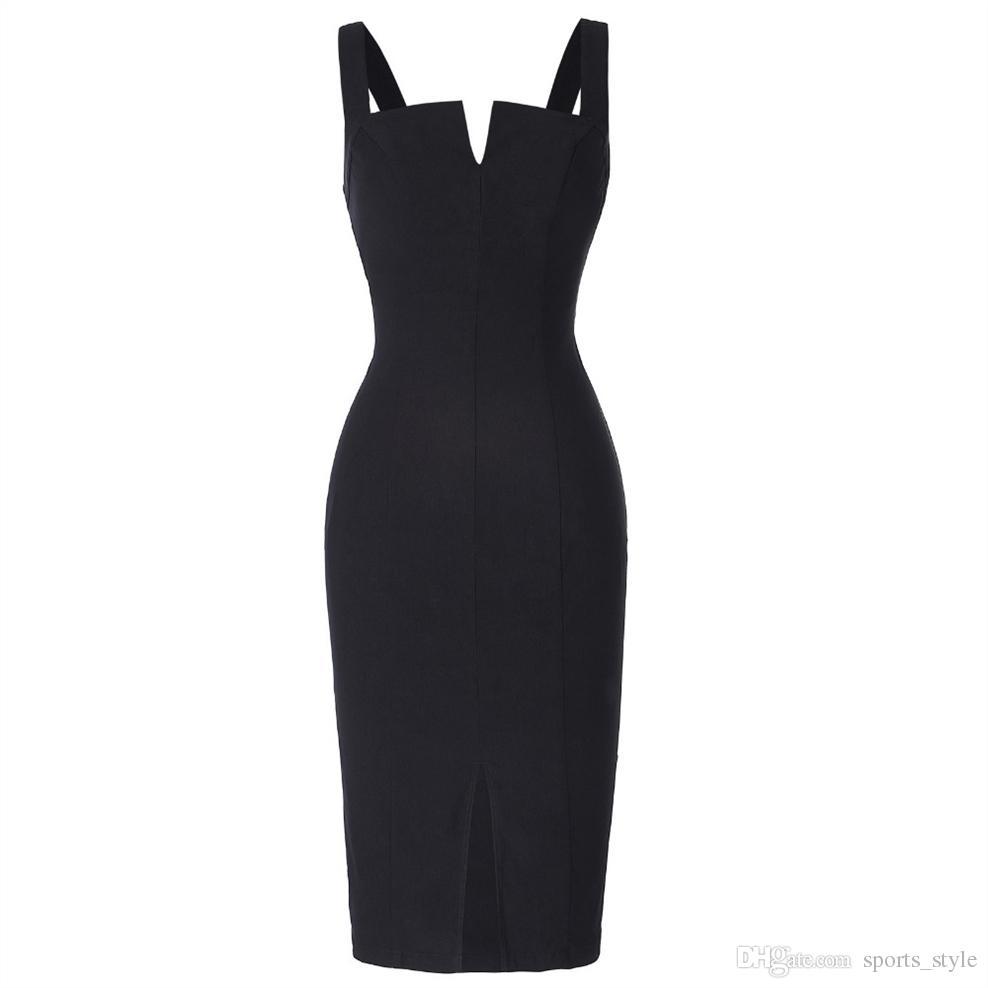64b13a10 Compre Lápiz Atractivo Vestido De Verano De Las Mujeres Slim Fitted ...