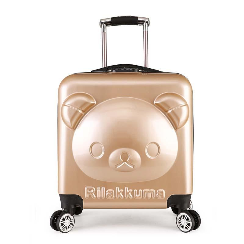 f168d82d7c0c BeaSumore Cute Bear Children Rolling Luggage Spinner Travel Bag On Wheel  Kids Suitcase Wheels Trolley Students Password Trunk Duffle Bags For Women  Wheeled ...