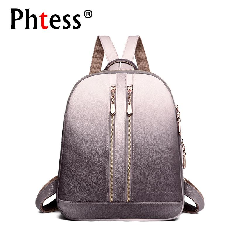 2019 Fashion2018 Women Leather Backpacks For Girls Sac A Dos School  Backpack Female Travel Shoulder Bagpack Ladies Casual Daypacks Mochilas  Backpack With ... 44f660989f957