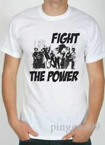T-Shirt Public Enemy Fight the Power, T-Shirt White Design Style Rap Hip Hop