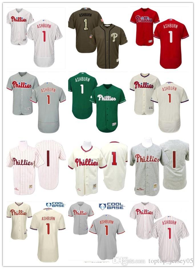 2018 Top Philadelphia Phillies Jerseys  1 Ashburn Jerseys Men WOMEN YOUTH  Men S Baseball Jersey Majestic Stitched Professional Sportswear UK 2019  From ... 9b425a10349a