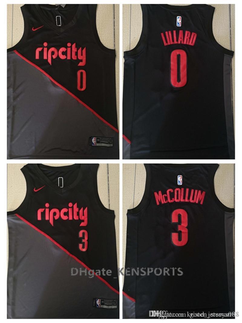 the best attitude 95649 46d91 City style 2019 Men Portland Trail Basketball Jerseys Damian Lillard C.J.  McCollum City style ALL Stitched Jerseys