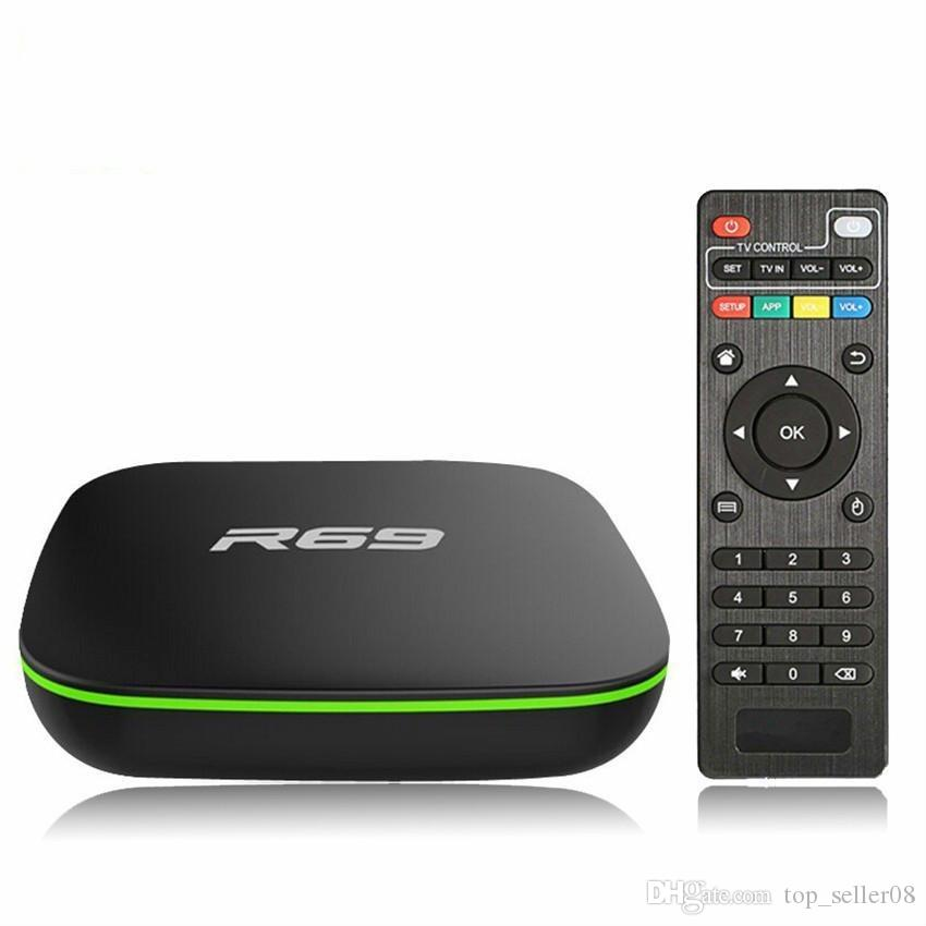 Cheapest R69 Android Tv Box Quad Core 1GB 8GB Android 7.1 H3 Smart Steam Media Player