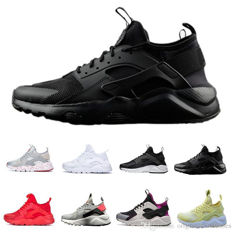best cheap 689f5 a7ee1 Großhandel Huarache 4 Ultra Laufschuhe Herren Damen Classic Triple Weiß  Schwarz Rot Grau Huaraches Outdoor Runner Sport Trainer Sneakers Eur 36 46  Von ...