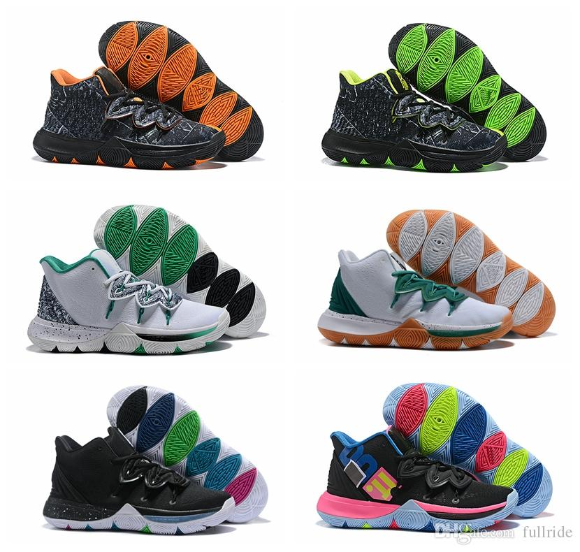 05a53b9989a3 2019 New Kyrie Taco Black Magic Sky Star Mens Basketball Shoes Chaussures  5s 5 Men Rainbow Black White Sports Sneakers Size US 7 12 Sports Shoes  Online ...