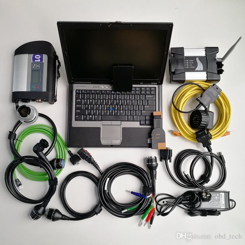 Factory price 2in1 Used Laptop Computer D630 Car Diagnosis tool+Mb Star C4 SD Connect C4 SD Compact 4+For BMW wifi ICOM NEXT+1TB SSD