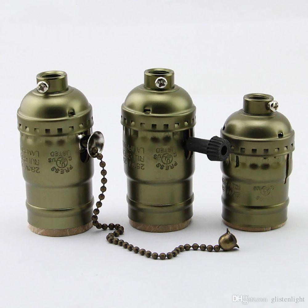 Compre Edison Con De Soporte Vintage Interruptor Lámpara Perilla nw8vNm0yO