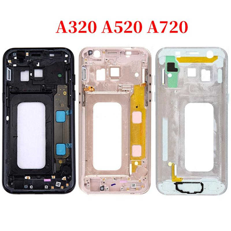 For Samsung Galasy A3 A5 A7 2017 A320 A520 A720 A320f A520f A720f Rear Back Housing Battery Glass Lens Cover With Sticker