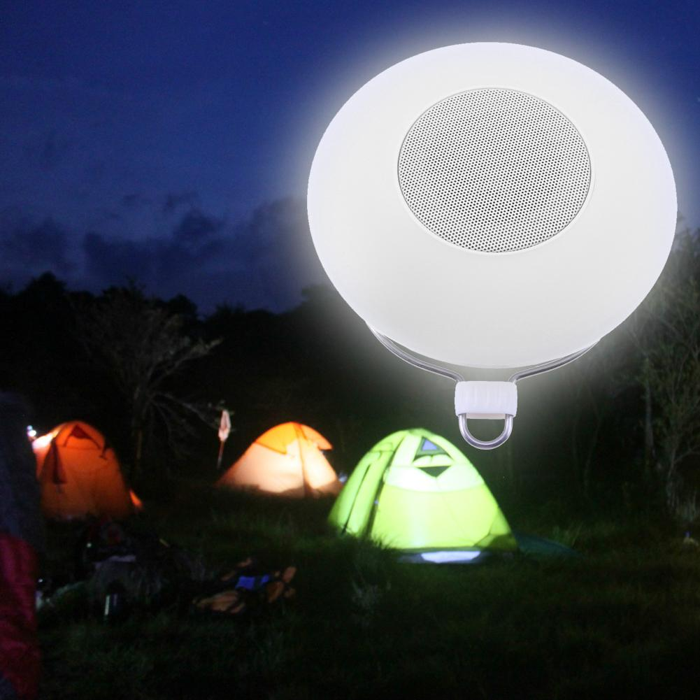 Multi-function USB Rechargeable Camping Lanterns Outdoor LED Hanging Camping Tent Light Lantern Wiht FM Radio Bluetooth Speaker