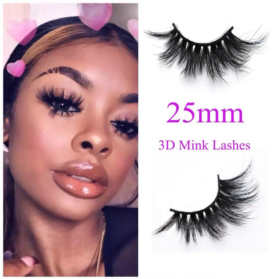 127eb9ee64f Long Dramatic Mink Lashes 3D Mink Eyelash 5D 25mm Long Thick Mink Lashes  Handmade False Eyelash Eye Makeup Australia 2019 From Linyuyao, AU $2.42 |  DHgate ...