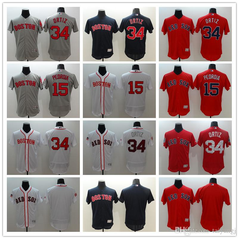 0d76d15c720 2019 50 Mookie Betts 34 David Ortiz 15 Dustin Pedroia Authentic Jersey