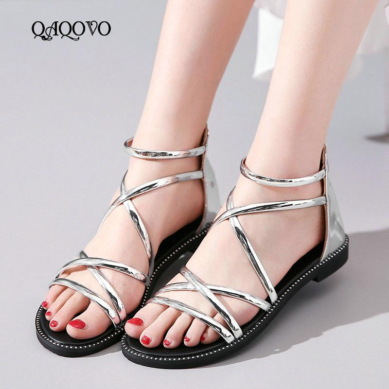 2d78929a6 Summer Women Shoes Gladiator Sandals Flat With Casual Shoes Fashion ...