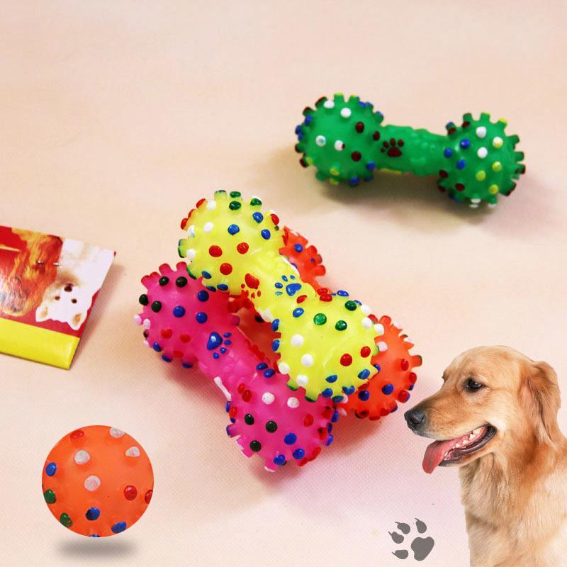 De Mascotas Perro Unid Juguetes Resistencia 1 Mascota Cachorro Squeak A Para Pequeños Goma Masticar Juguete Perros wmn0N8