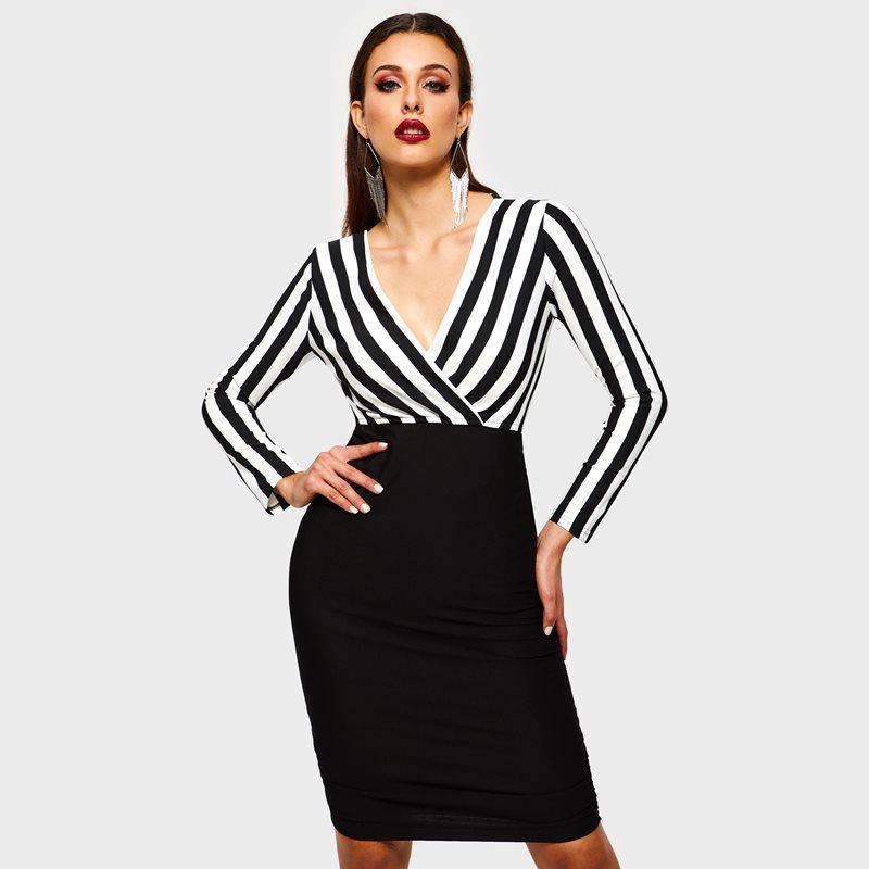 9f79de8efd Compre Vestido De La Oficina De Las Mujeres Mini Bodycon Atractivo De La  Manera Del Estilo Coreano Elegante De Cintura Alta Señoras Delgadas Ropa De  Trabajo ...