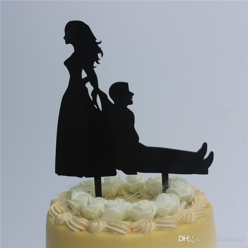Wedding Cake Topper Bride And Groom For Ruby Wedding Anniversary Cake Decoration