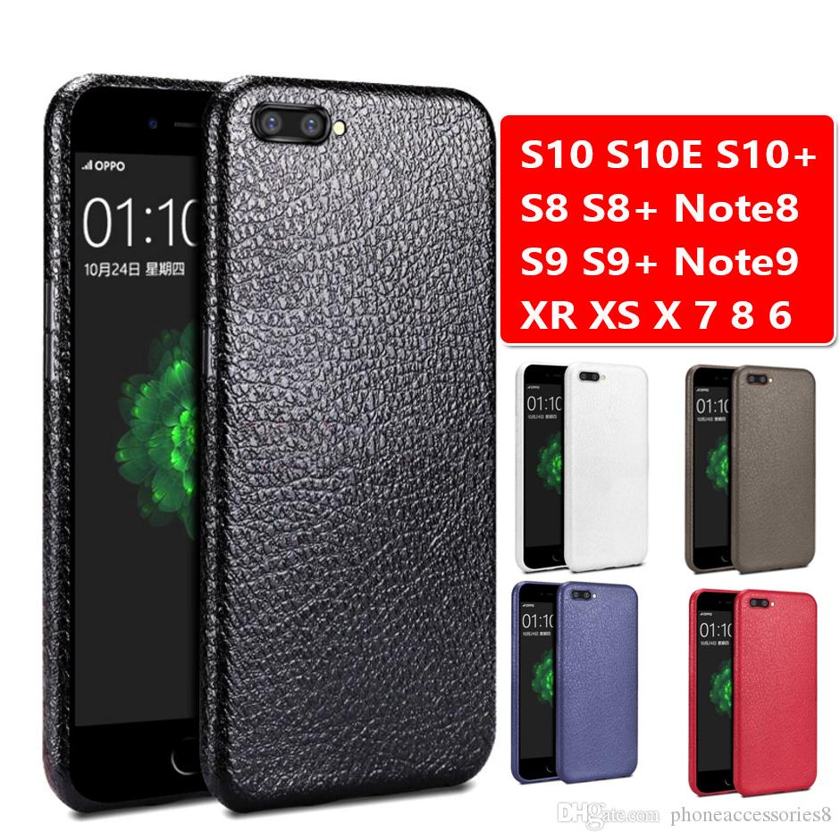 Cheap Soft TPU Leather Line TPU Cell Phone Cases For Samsung Galaxy S10 S10E S8 S9 Plus note8 note9 For iPhone XR XS X Max 6 7 8 Plus