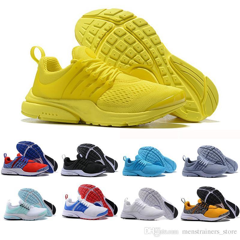 buy popular f693d e6321 Cheaper New Presto Running Shoes Men Women Ultra BR QS Yellow Red Prestos  Black White Oreo Outdoor Jogging Brand Mens Trainers Sneakers