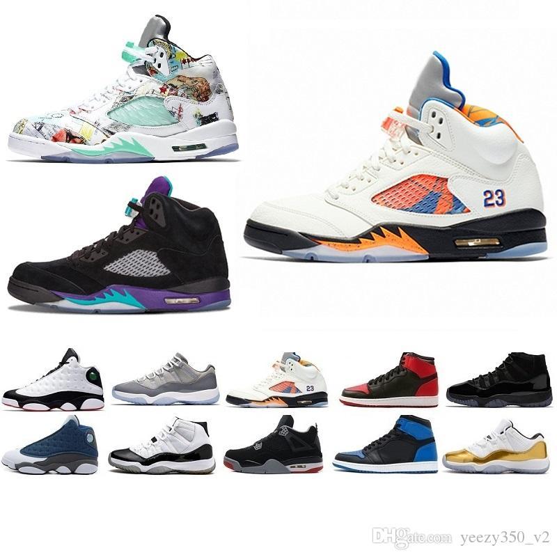 finest selection d25b7 a433a Acheter Nike Air Jordan Jordans Retro SUP Race 5 Ailes 5s PSG Noir Hommes  Chaussures De Basketball Laney Oreo Argent OG Blanc Grape Space Jam Hommes  Sport ...