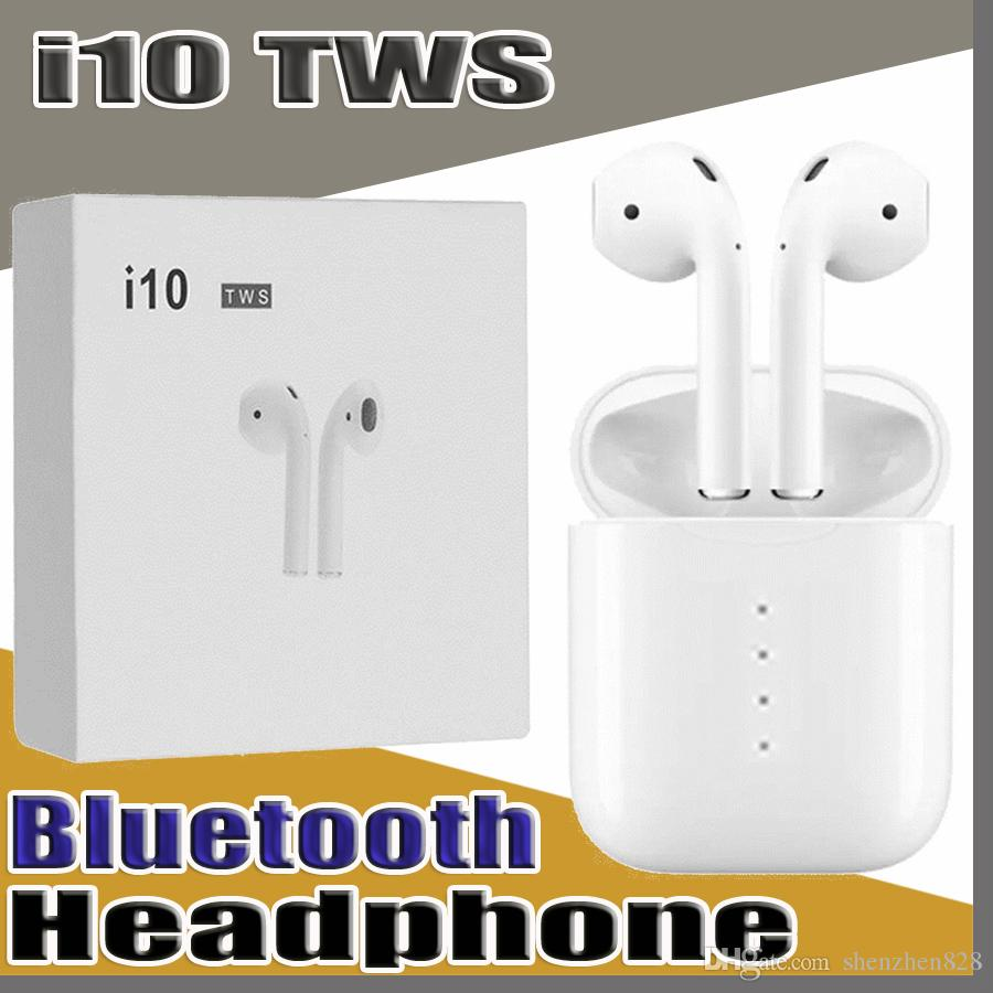 I10 Tws Wireless Earbuds 1:1 Bluetooth 5 0 Headphones Earphones Headsets  for Iphone X 8S MAX SAMSUNG Galaxy Note 9 S8 S9