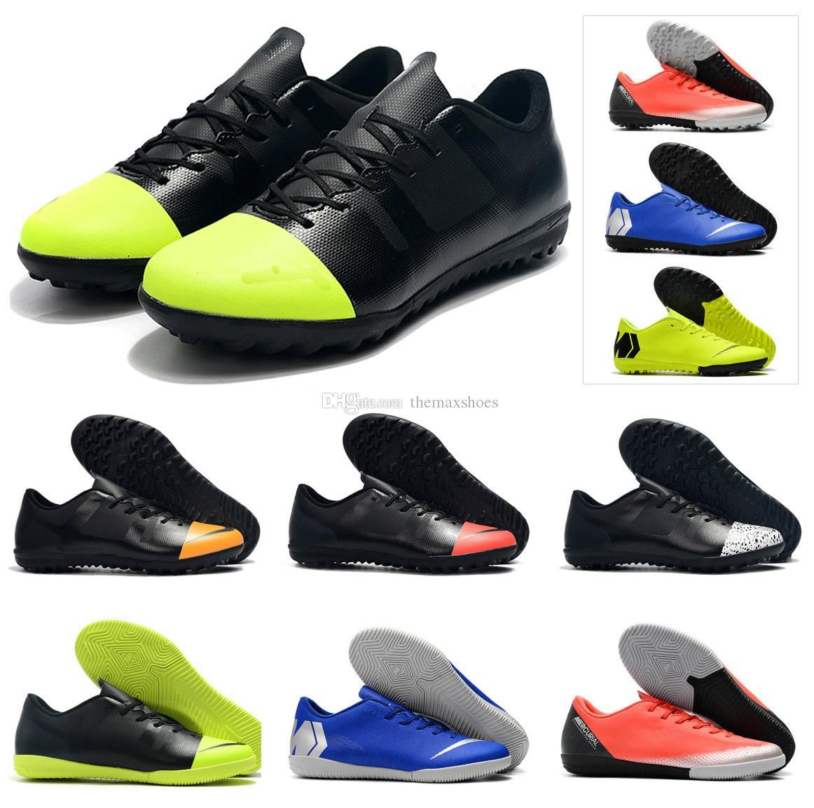 2840e621924 NEW Mens Mercurial VaporX 12 Club XII IC TF Turf Indoor Women Boys CR7  Ronaldo Neymar Low Ankle Football Soccer Shoes Cleats Size 36-45 Mercurial  VAPORX 12 ...