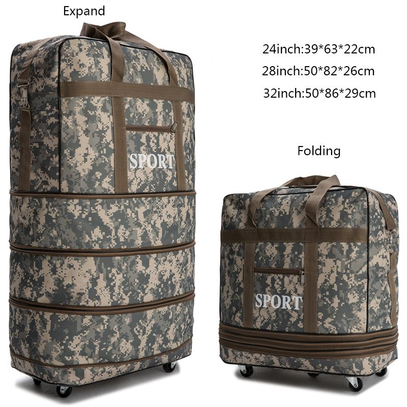 ad29e681a660 28/32inch travel Duffle waterproof suitcase folding rolling luggage travel  bags/ suitcase women trolley case luggage with wheels