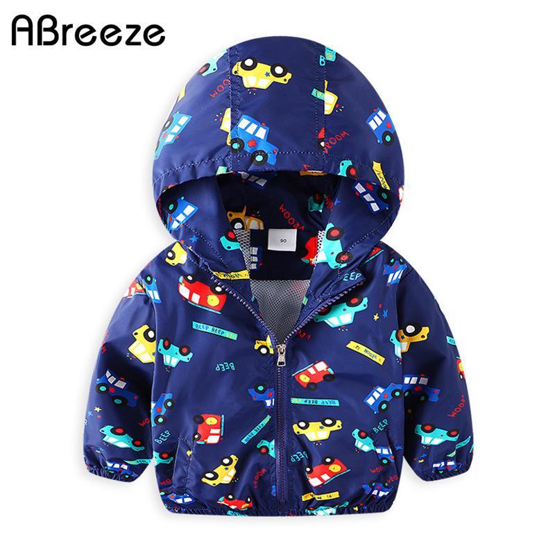 bfe004f60 2018 Spring Summer Children Outerwear   Coats New Car Print Kids ...