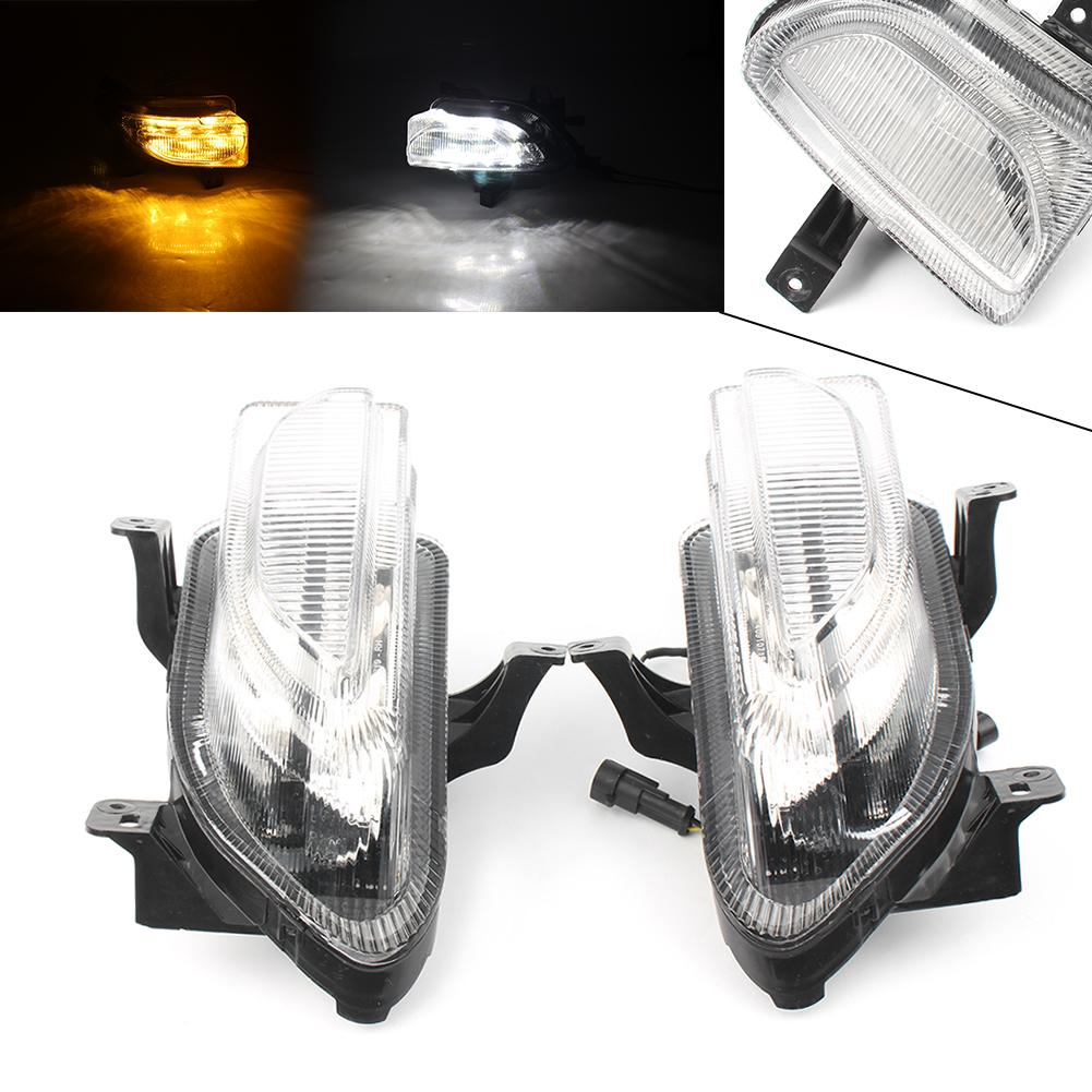 2019 Clear Led Daytime Running Lights Turn Signals Lamp For Jeep