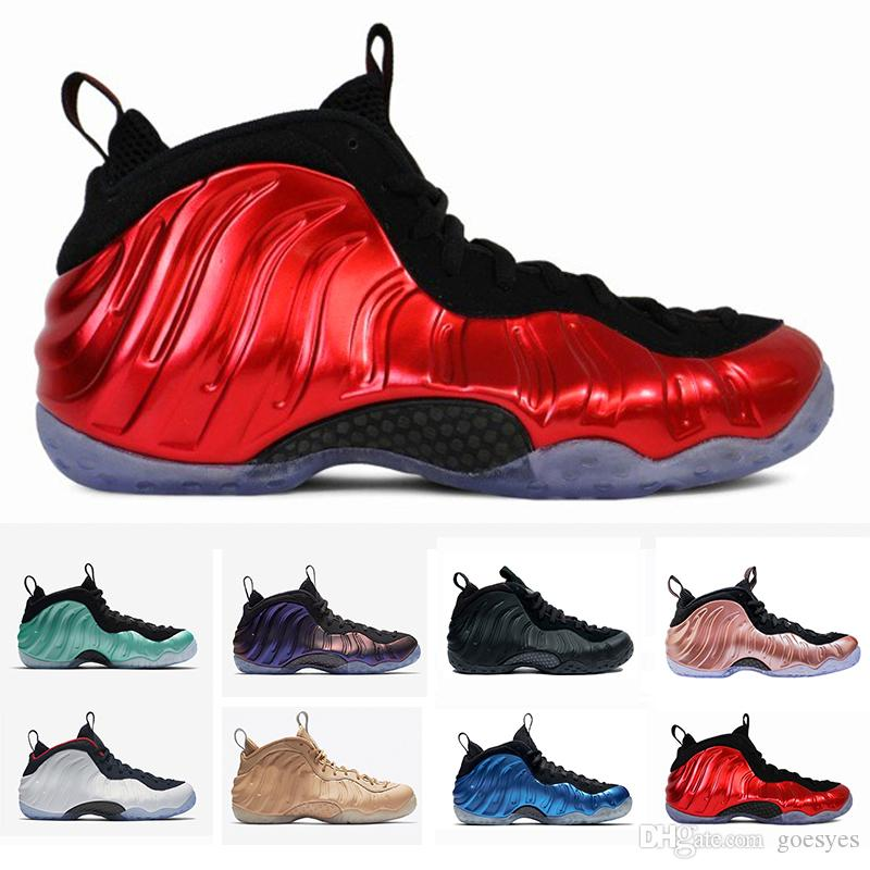 e6a12a0c5236 2019 New 2019 Penny Hardaway 1 Foams PRM Mens Shoes One Training Designer  Sneakers White Ice Rose Gold Sports Basketball Shoes Size 40 47 From  Goesyes