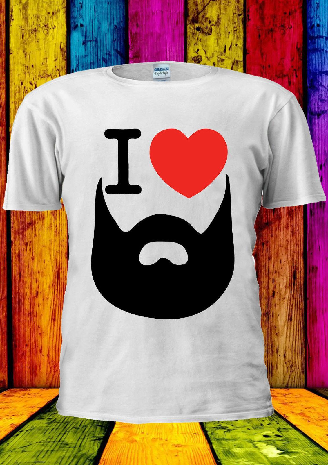 b6bbb46f6fc644 I Love My Beard Funny Tumblr T Shirt Vest Tank Top Men Women Unisex 2399  2019 Fashion T Shirt