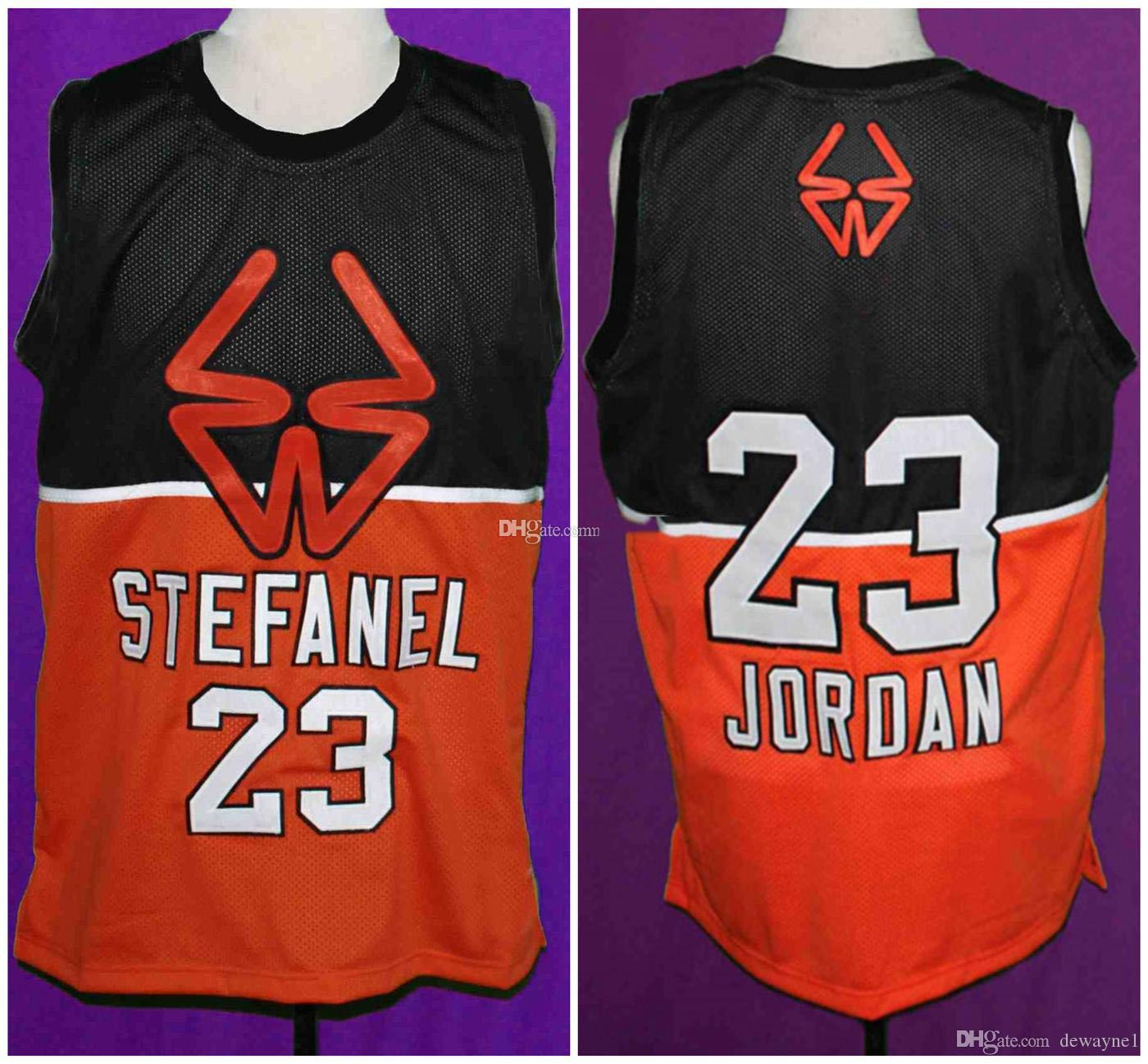best service 58cd2 a85e8 1985 Stefanel Trieste Michael MJ #23 Exhibition Game Retro Basketball  Jersey Men s Stitched Custom Any Number Name Jerseys