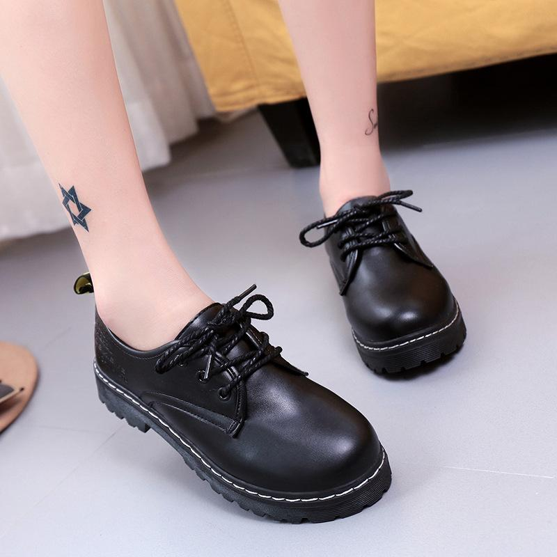 240bb297de9f Masorini Women Flats Oxford Shoes Girl Spring Soft Leather Casual Shoes Lace  Up Womens Retro Brogues Flat Shoe W 353 Boots For Men Girls Boots From  Softkett ...