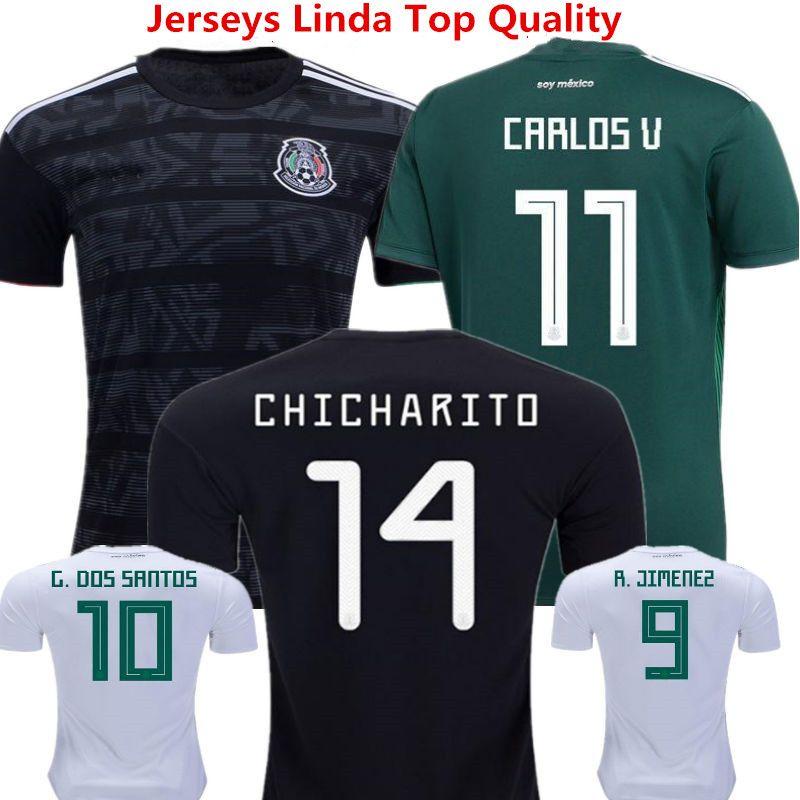 c686828aa8f 2019 Mexico Soccer Jersey Javier Hernandez Camisas 2019 Chicharito Lozano  Dos Santo C.VELA Mexico Retro 1998 Football Shirts Racing Wear Woman MX  From ...