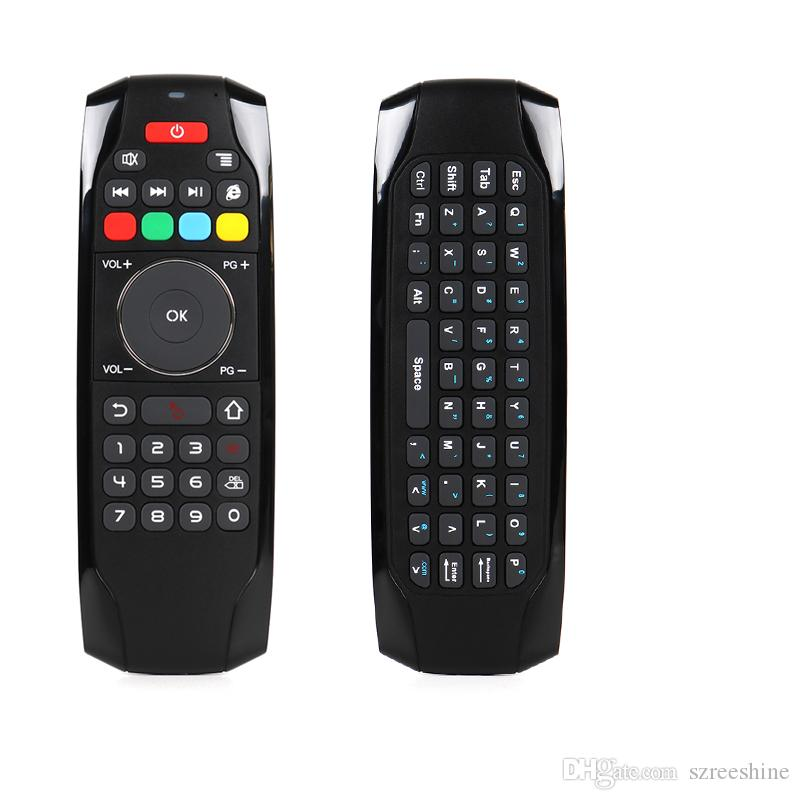 new design 2.4G Remote Control Mini Wireless Keyboard and air mouse build in rechargeable battery