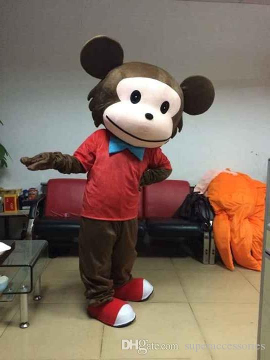 monkey mascot costume for adults Curious George Monkey Mascot Costumes Cartoon Fancy Dress Halloween Party Costume Adult Size Free Shipping