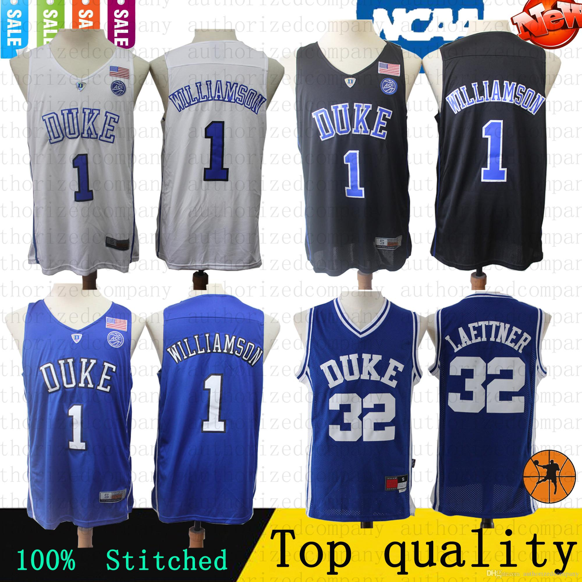 0faa0db1d84 2019 2019 New Top NCAA Basketball Jersey 1 Zion Williamson 32 Christian  Donald Laettner Duke Blue Devils College Jerseys 100% Stitched Top From ...