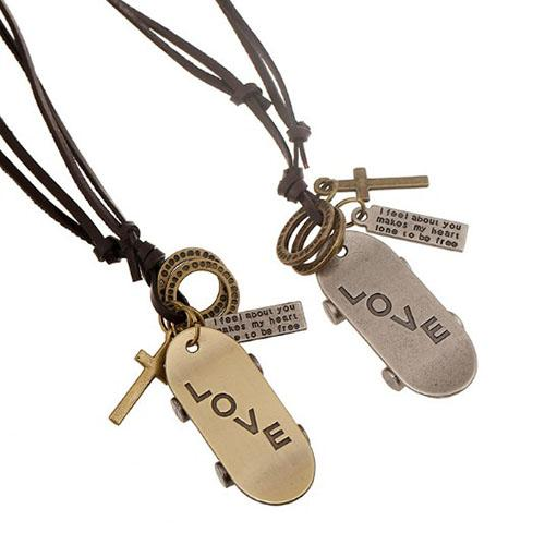 Scooter LOVE Homens Mulheres Longos colares pingentes kolye Mulheres colar de couro collier collares choker colar femme colar mulheres