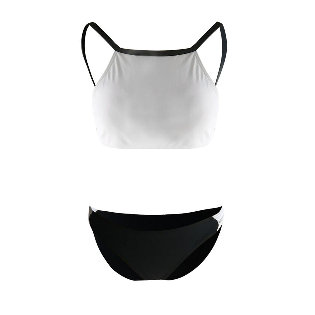 Swimwear Mulheres Sexy Tankini Two Piece Maiôs Mulheres 2019 Branco Sexy Tankinis Empurrar Para Cima Maiô Mulheres Biquinis Feminino