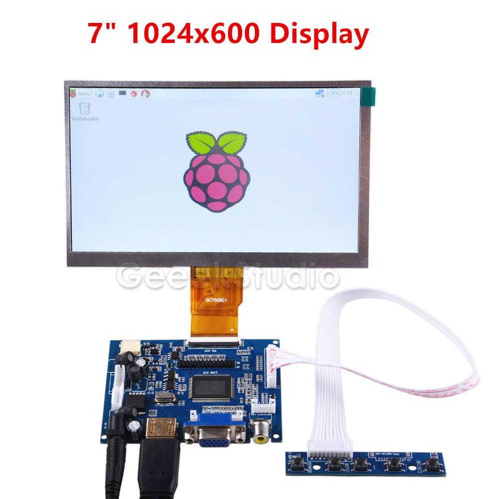 4ad959eff Compre Raspberry Pi Pantalla LCD De 7 Pulgadas De 1024 * 600 TFT Monitor  Con Tablero De Unidad Para Raspberry Pi 2/3 Modelo B A $49.54 Del Grabern    DHgate.