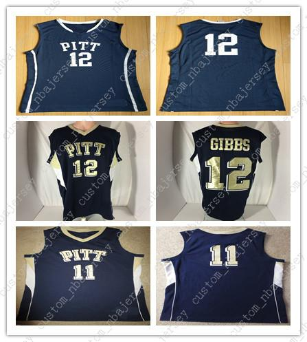 outlet store a11ad 4bd7d Cheap custom Pittsburgh Panthers Basketball Jersey #12 Ashton Gibbs NCAA  jerseys Stitched Customize any number name MEN WOMEN YOUTH XS-5XL