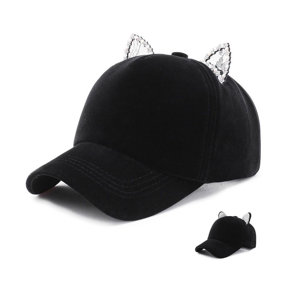 Compre 2019 Mujeres Gorra De Béisbol Hip Hop Rendimiento Ajustable Curva Cap  Gato Oreja Sombrero Ocasional Ocio Sombreros Verano Otoño Hat5 A  33.74 Del  ... bc4c8012cb7