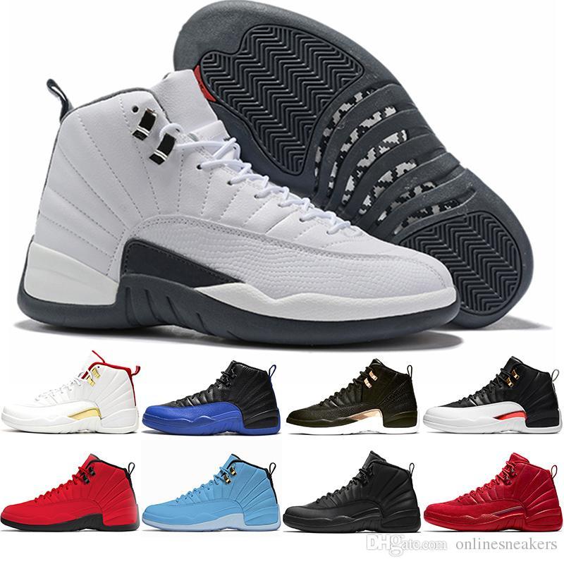 Nike Air Jordan Retro Basketball Schuhe 12 12s Männer CP3 Bulls Universität Blue Rush Rosa Vachetta College Navy Michigan Bordeaux Herren Sport