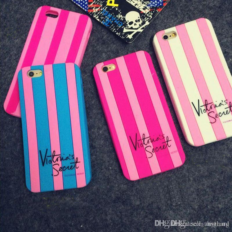 The Secret Of Victoria Phone Cases Stripe Silicone For Iphone X International Brand Soft Cell Phone Case For Iphone 6 7 8 Plus