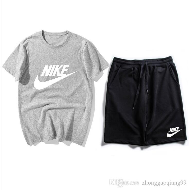 Deportivo Traje Camiseta De Los Hombres Nike Pantalones Cortos Chándal Ropa Conjuntos Femenina Verano Deportiva 7bv6gfYy