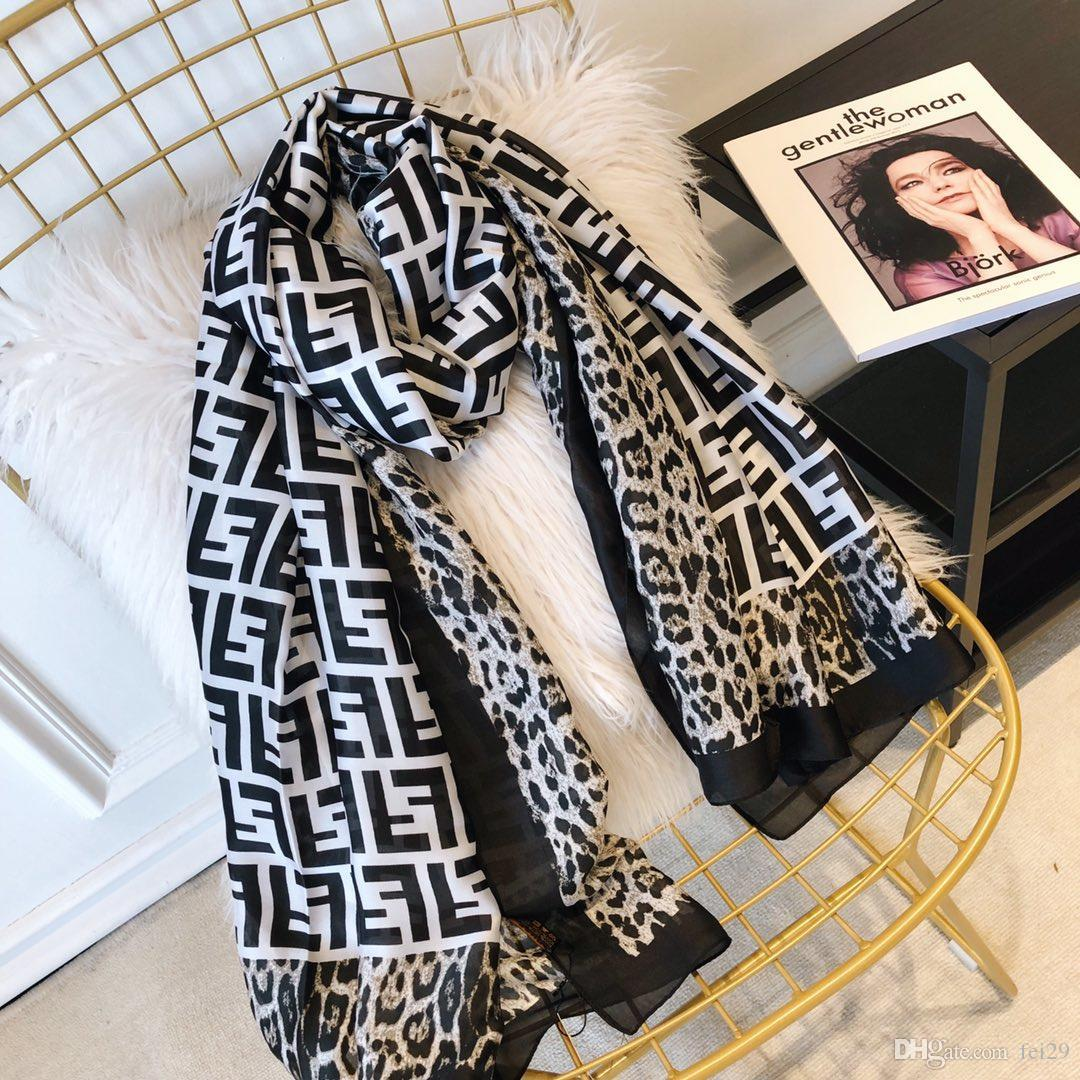 High quality 2019 Woman Silk Scarf Square Scarf Shawl Wraps 180*90cm Hot Sale Dot Plaid Satin Scarf Printed For Spring Summer Autumn Winter