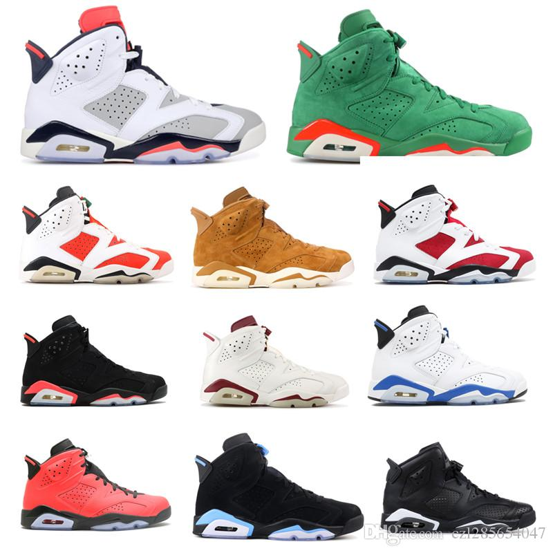 21f8d04e76cc High Quality 6 Basketball Shoes Men Carmine Infrared 3M 6s Blue UNC Toro  Hare Oreo Maroon Tinker Low Chrome Sports Sneake With Box Athletic Shoes  Shoes ...