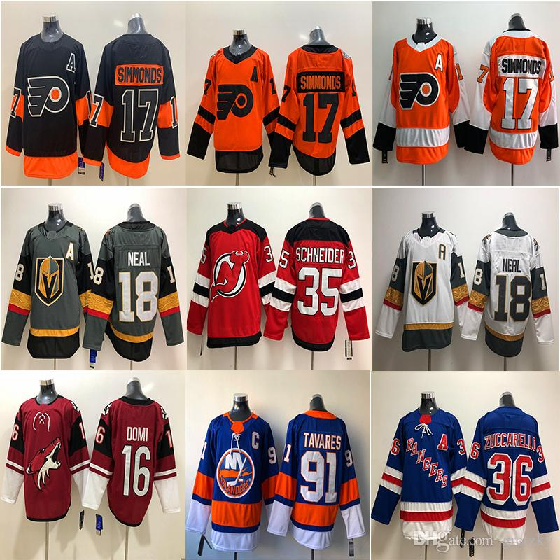 promo code bac9e 48efd Vegas Golden Knights Philadelphia Flyers Carolina Hurricanes Jersey 18 Neal  17 Wayne Simmonds Ice hockey Jerseys