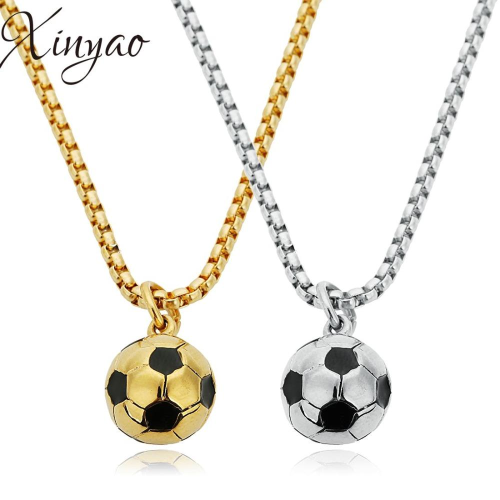 Wholesale Wholesale Fashion Stainless Steel Sport Soccer Balls Pendants  Necklaces Football Oil Drop Charms Necklaces Fit Men Women Jewelry Chain  Necklace ... 523d46086